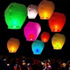 Paper Chinese Lanterns Sky Fly Candle Lamp for Wish Party Wedding Assorted Color