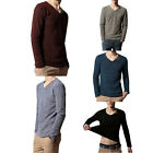 Men's Long Sleeve Hollow out T-Shirts Cotton Under Shirt 5 Colors With L-XXXXL
