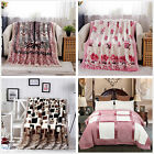 Floral Blanket Queen Size Super Warm Lush Comforter Flannel Thickening Bed Line