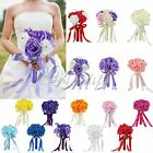 Wedding Bridal Girlfriend Bouquet Artificial Foam Roses Flowers Silk Party Decor