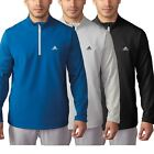 2016 ADIDAS CLIMASTORM HYBRID HEATHERED 1/4 ZIP MENS GOLF WATER RESISTANT JACKET