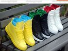 High-top men's casual shoes magic buckle PU  edition sneakers+socks  A9-1
