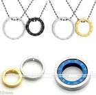 Couple Stainless Steel Zodiac 2 Rings Charm Chain Necklace Valentine's Gift