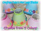 Gingham Daisies Mini Lamp Shades - Choose*Purple*Blue*Green*Lt Pink OR Hot Pink