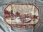 """LAID BACK AIRLINES SEAPLANE 2-SIDED T SHIRT """"WE'LL TAKE YOU HIGHER"""" NWT"""