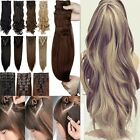 UK Mega Thick Double Weft Clip In Hair Extensions Real As Human Remy Hair Brown