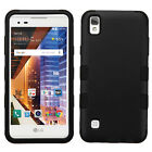 For LG Tribute HD IMPACT TUFF HYBRID HARD Case Rubber Skin Phone Cover Accessory