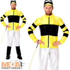 Jockey Mens Fancy Dress Polo Horse Racing Riding Sports Adult Costume Outfit New