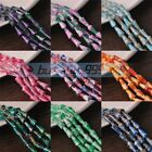 10~50pcs 16X8mm Pagoda Shape Faceted Loose Spacer Glass Colorful Beads Pendants