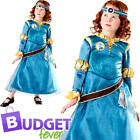Deluxe Princess Merida Girls Fancy Dress Disney Brave Childs Kids Costume Outfit