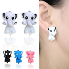 Cute Catoon Elephant Ear Stud Earrings Lovely Women Girl Earrings Jewelry