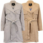 Ladies Jacket Brave Soul Womens Trench Mac Coat Double Breasted Belt Winter New
