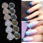 12pcs/set Oval Round Cup Sequins Paillettes Loose AB Wedding Craft DIY Nail Art