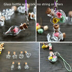 New 10 PCS Clear Glass Wishing Bottles Charms Empty Bottles Necklace Pendant HOT