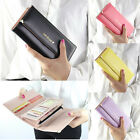 Fashion Lady Women Long Handbag Clutch Wallet Purse PU Leather Card Holder