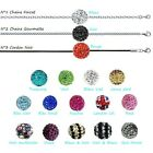NECKLACE STYLE SHAMBALLA Ball DISCO & Chain stainless steel NEW of your choice