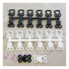6 x BLACK or WHITE STURDY PLASTIC HOOK AND EYE FASTENERS SKIRT SEW ON EXTENDERS