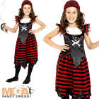 Gothic Pirate Girl Costume Halloween Caribbean Kids Fancy Dress Child Outfit New