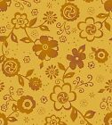 SUNDAY FLOWER TAN FLORAL DAISY QUILT SEWING FABRIC Free Oz Post