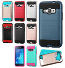 For Samsung Galaxy Luna Brushed Metal HYBRID Rubber Case Phone Cover