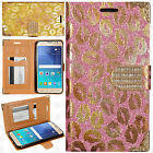 For Samsung Galaxy Luna Premium Leather Wallet Lips Case Flip Phone Cover