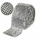 Silver Diamond Mesh 1/5/10Yards Bullet 12-Row Rhinestone Ribbon DIY Trim Sewings