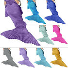 New Womens Mermaid Tail Quirky Soft Marl Acrylic Material Blanket One Size