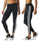 ADIDAS►TREND LEGGINGS 3S HOSE TIGHT SPORT FITNESS CLIMALITE ►SCHWARZ WEIß►S-L