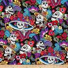 DIA DE LA CATRINA ALEXANDER HENRY DAY OF DEAD SKULLS QUILT FABRIC Free Oz Post