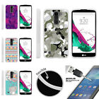 For LG K7 | LG Tribute 5 | LG Treasure TPU Case + Tempered Glass Swamp Camo