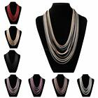 Fashion Women Girls Multilayer Necklace Rope Choker Chunky Long Chain Necklace