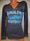 61200 WOMENS Ladies CAROLINA PANTHERS V Neck Long Sleeve Jersey SHIRT NEW