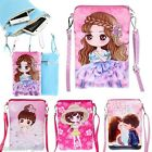 HX Kids Girl Cartoon Dolls PU Leather Child Cross Body Bag Purse Clutch Bag