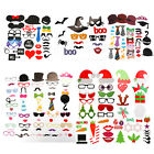 14/76 Photo Booth Props Mustache on A Stick Kit Wedding Christmas Birthday Party
