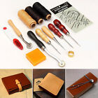 13 x Leather Craft Hand Stitching Sewing Working Tools Thread Awl Waxed Thimble