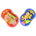 Plastic Doll Bathtub Toy Set for Kid Children Bathtime Role Play Game Bath Float