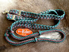 Roping Knotted Horse Tack Western Barrel Reins Nylon Braided Green 60714