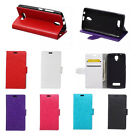 6 colours Leather Folio Wallet Case Cover Pouch For LG Mobile Phones 01