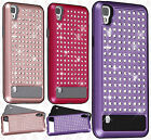 For LG Tribute HD LS676 HYBRID IMPACT Diamond Layered Case Cover Accessory