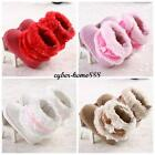 Newborn Baby Girl Bowknot Snow Boots Soft #C Crib Shoes Toddler Warm Plush Boots