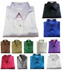 Mens Jacquard Weave Casual Thai Silk Shirts Short Sleeve Size / S M L XL 2XL 3XL