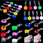 50PC Retractable Reel Recoil ID Badge Lanyard Name Tag Key Card Holder Belt Clip