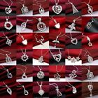 Silver Jewelry Pendant Necklace Chain Jewellery Xmas Gift+925box