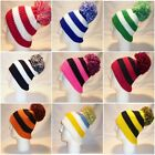 LUXURY FLEECE LINED BOBBLE HAT WOMENS MENS KIDS GOLF WARM POM BEANIE WINTER SNOW