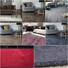Lustre Warm Thick Cotton Viscose Solid Colour Living Room Bedroom Area Floor Rug