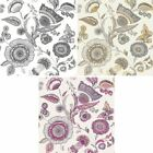 Arthouse Catarina Floral Leaf Pattern Wallpaper Modern Metallic Motif Jacobean