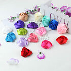 4cm Satin Roses Head Flowers Buds For DIY Craft Baby Hairband Scrapbooking Decor