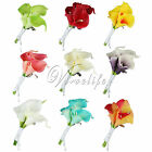 Wedding Bridal Groom Corsage Brooches Calla Lily Artificial Flowers Floral Decor