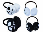 NIGHTMARE BEFORE CHRISTMAS JACK BLACK WHITE FUR WARM GOTHIC EAR MUFFS HEAD BAND