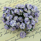 Mulberry Paper Flowers 10 x ASTER DAISY STEM FLOWERS Craft Flower Embellishments